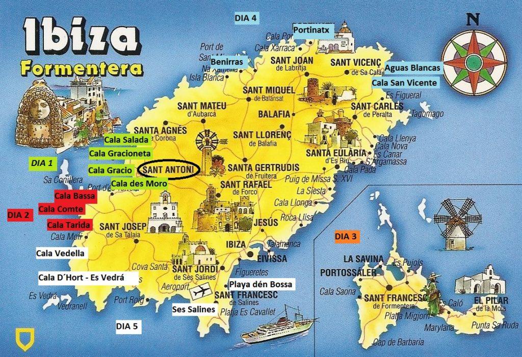 Plano Ibiza Guía de viajes Itinerario