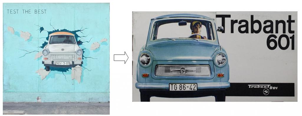 Coche Trabant Berlin Muro