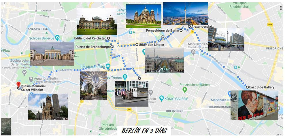 Itinerario Berlin que ver en 3 dias
