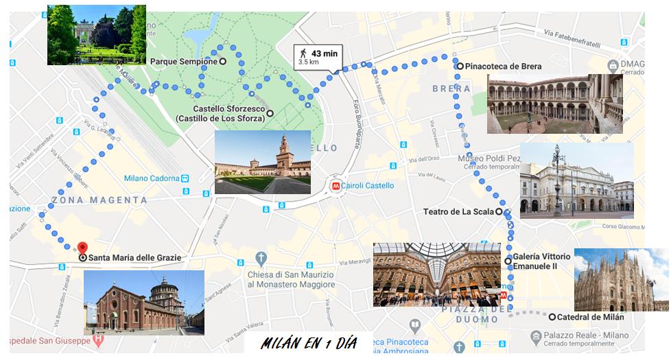 Itinerario Milan en 1 dia que ver