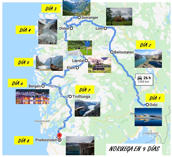Itinerario Noruega que ver