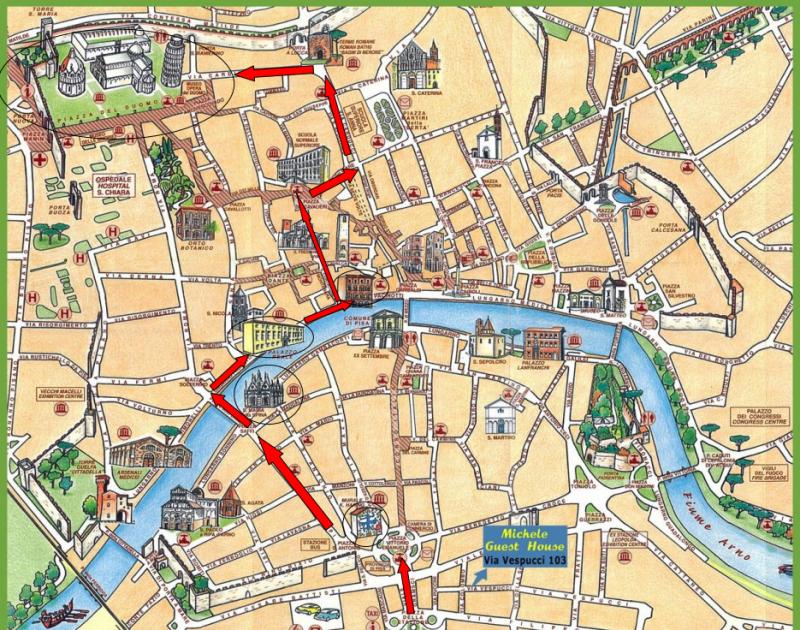 Itinerario Pisa
