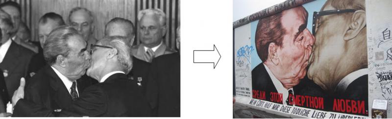Muro de Berlín Historia de un beso