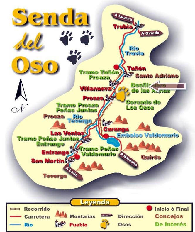 Senda del oso ruta