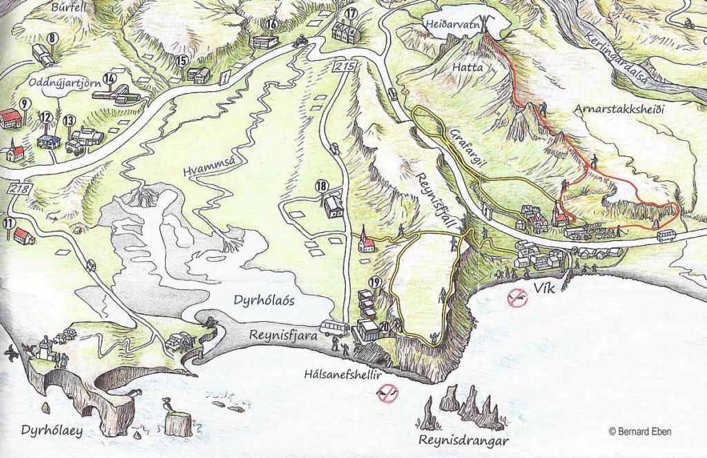 Skogafoss, Myrdalsjokull, Dyrhólaey,Reynisfjara, Vik, Hof Islandia