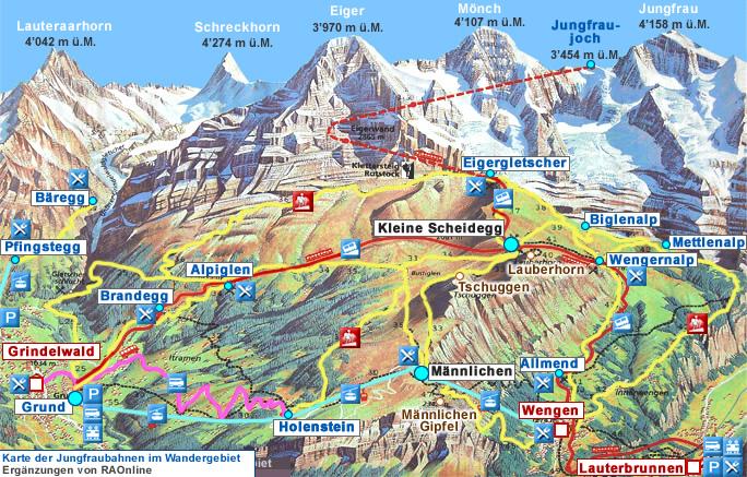 Itinerario Interlaken Suiza