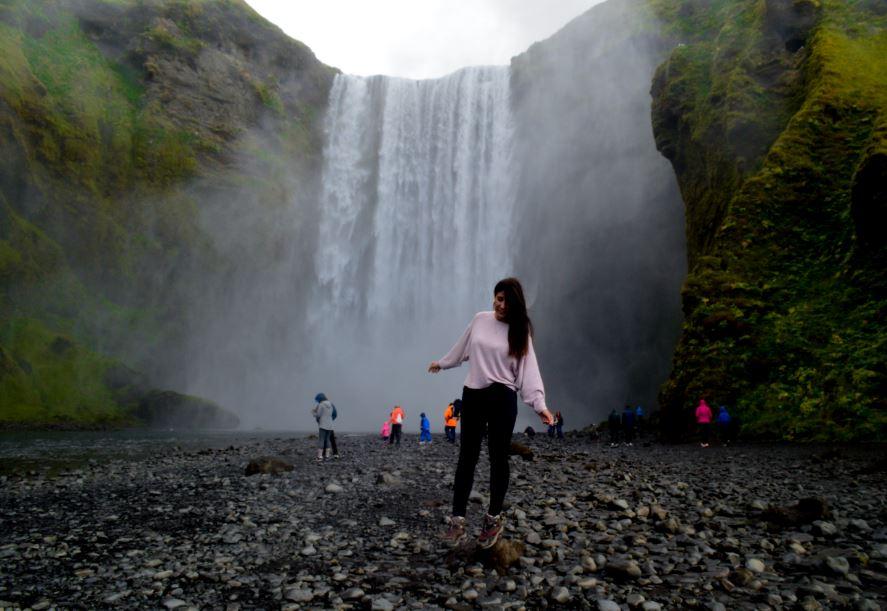 Cascada skogafoss Islandia