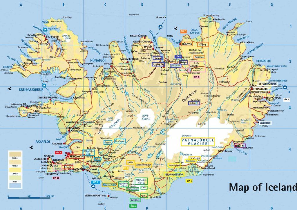 Itinerario Islandia día a día
