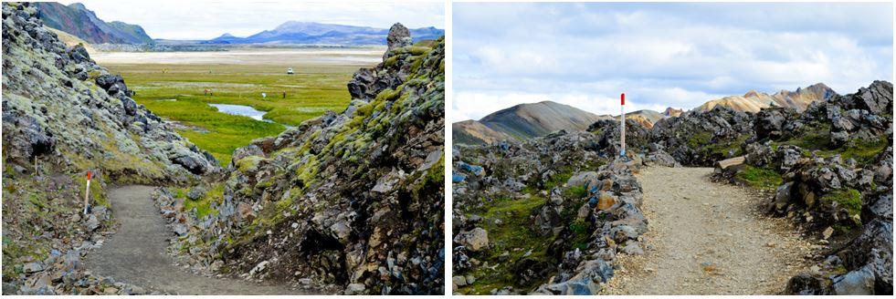 Landmannalaugar inicio ruta señalización