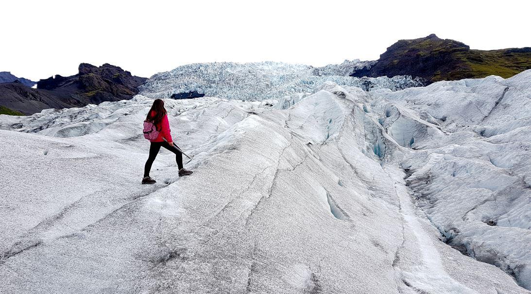 Trekking en glaciar Islandia
