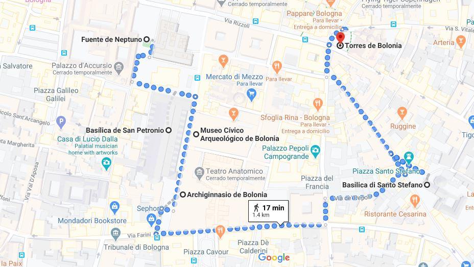 Itinerario Bolonia