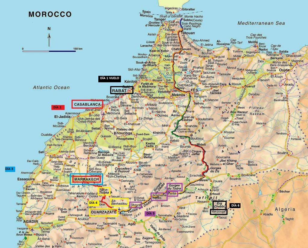Itinerario Marruecos Plano