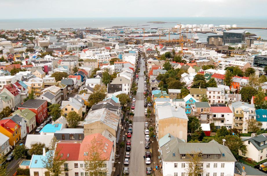 Reykiavik Islandia desde la Catedral
