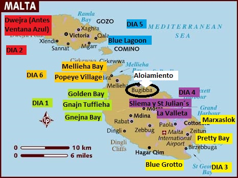 Plano Itinerario Malta Guia de viajes