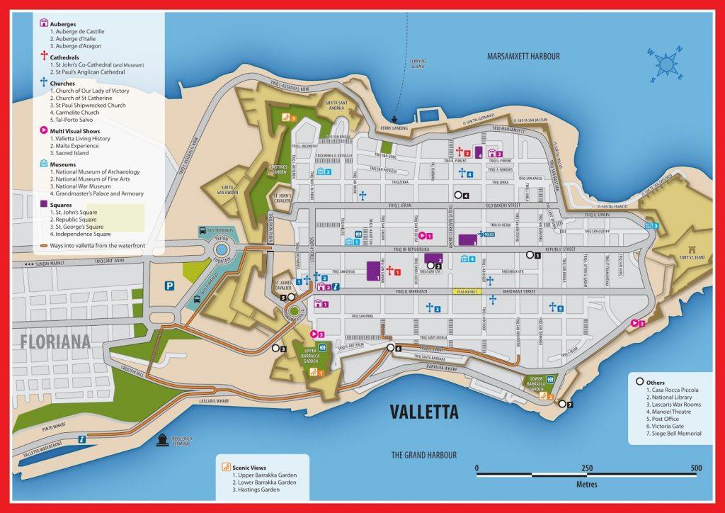 valletta Malta plano