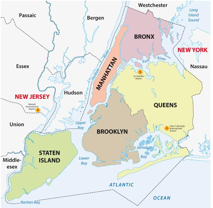 Barrios de Nueva York Plano