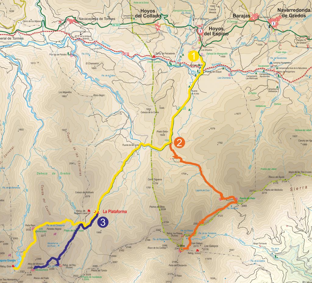 Mapa Rutas de Gredos