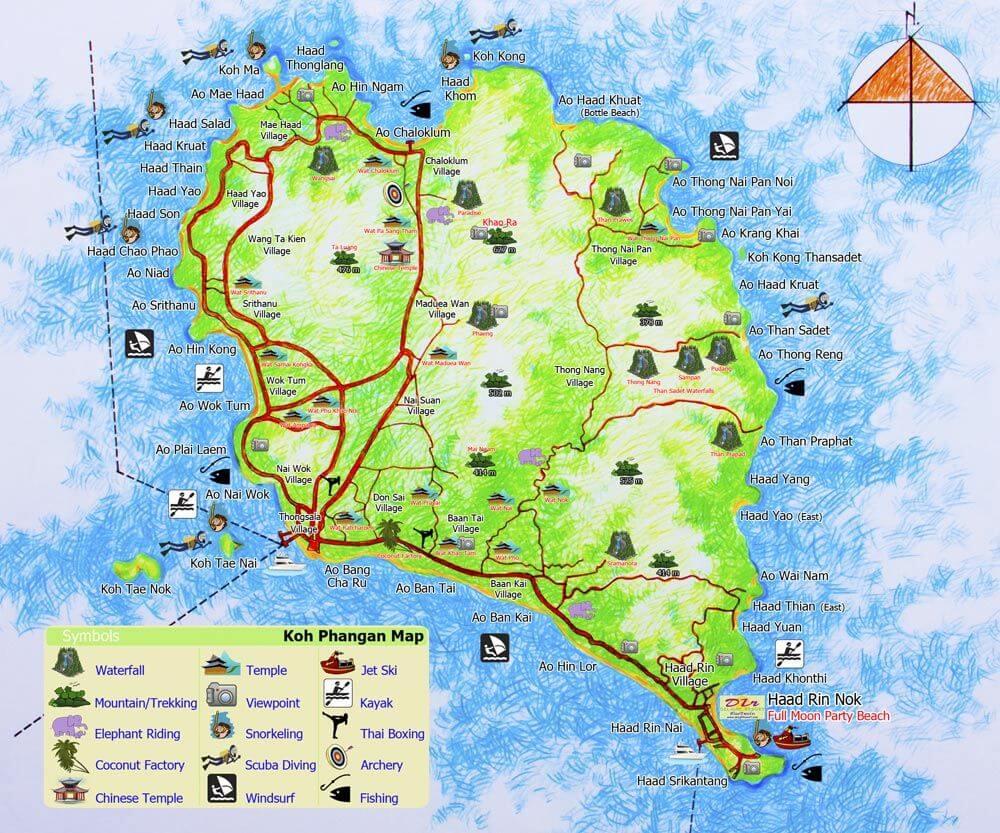 mapa koh phangan