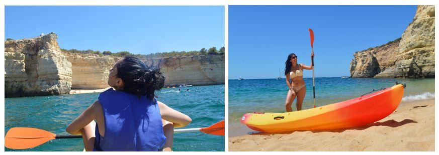 Kayak a cueva Benagil Algarve