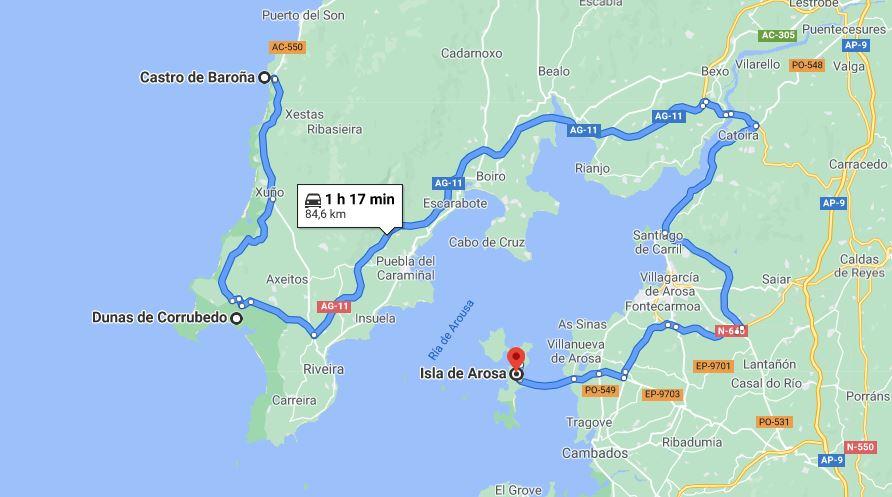 Itinerario dia 5 Galicia