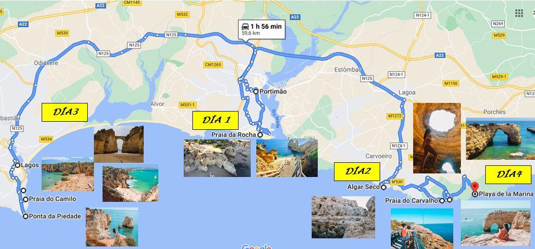 Itinerario Algarve en 4 días que ver