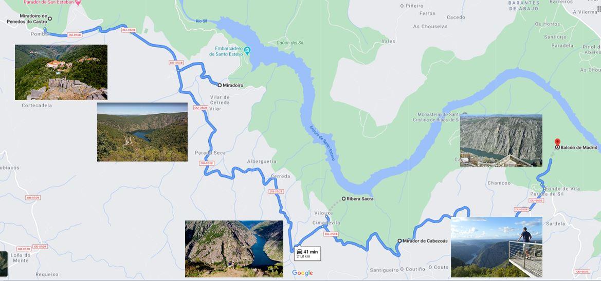 Itinerario Cañones del Sil Galicia