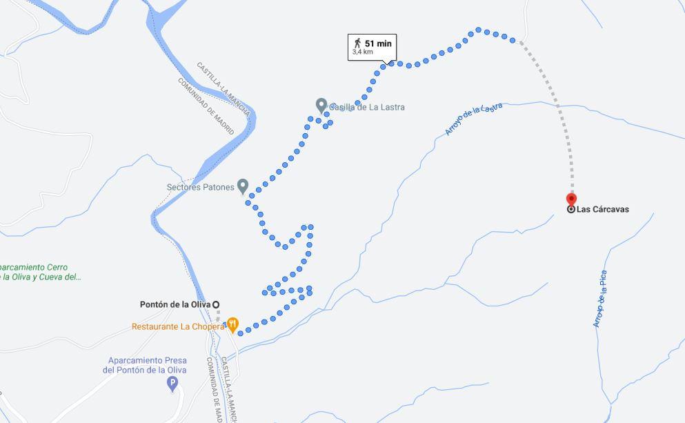Itinerario ruta patones de arriba carcavas de patones Madrid