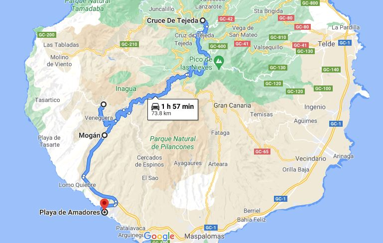 Itinerario Día 7 Las Palmas de Gran Canaria Mogan Azulejos y Amadores
