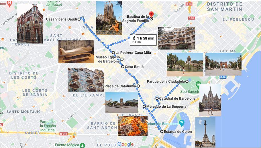 Itinerario dia 1 en Barcelona que ver