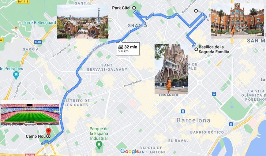 Itinerario dia 2 Barcelona que ver