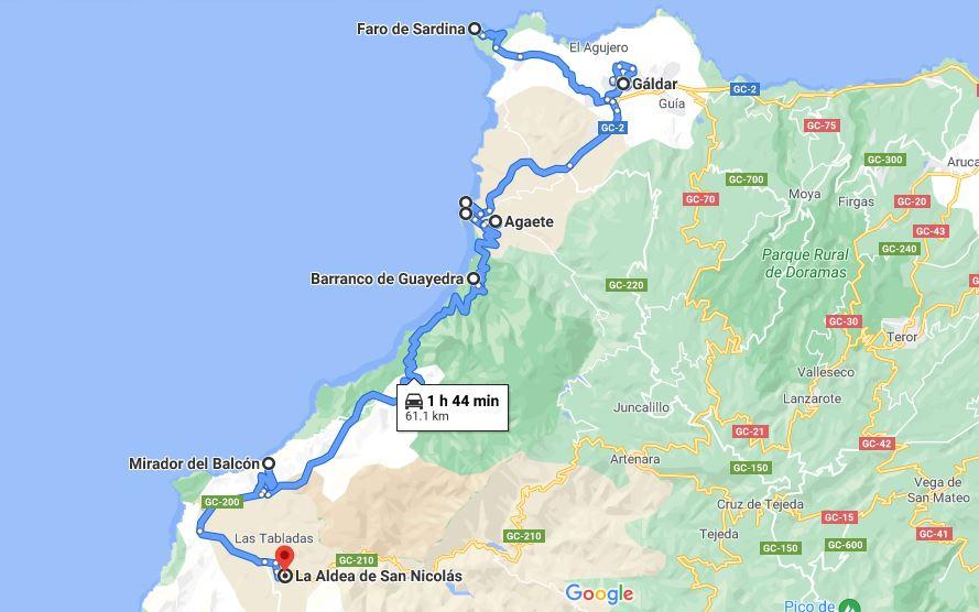 Itinerario dia 4 en Gran Canaria