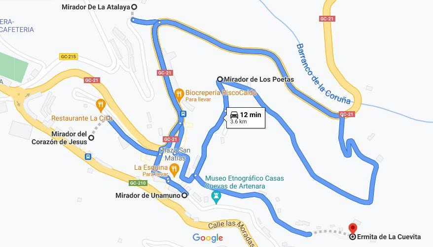 Miradores de Artenara que ver en Gran Canaria