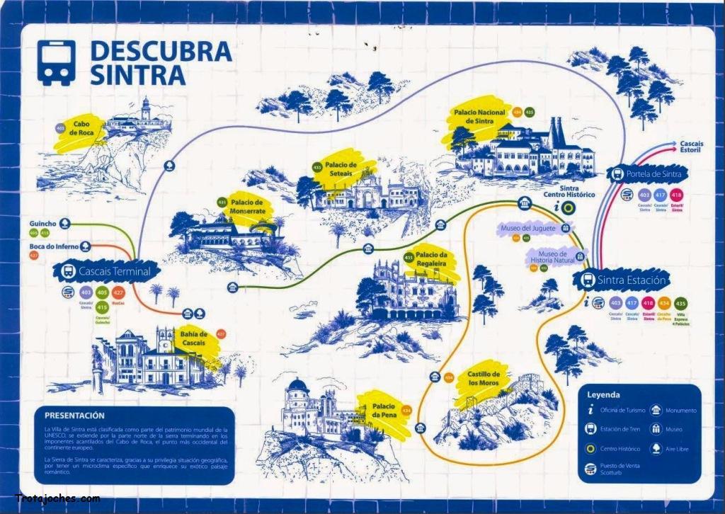 Autobus turistico Sintra itinerario